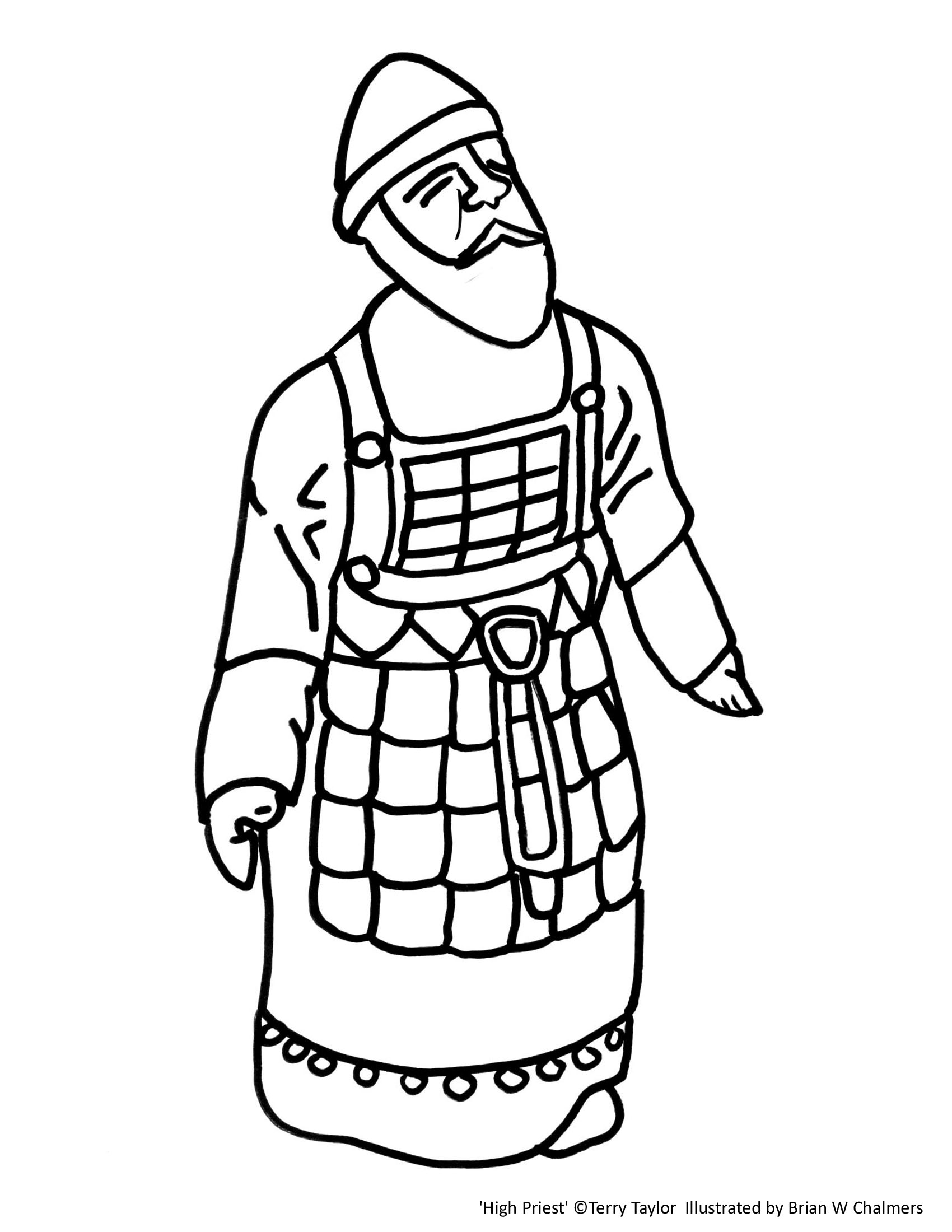 high priest coloring page from 3dtabernaclecom
