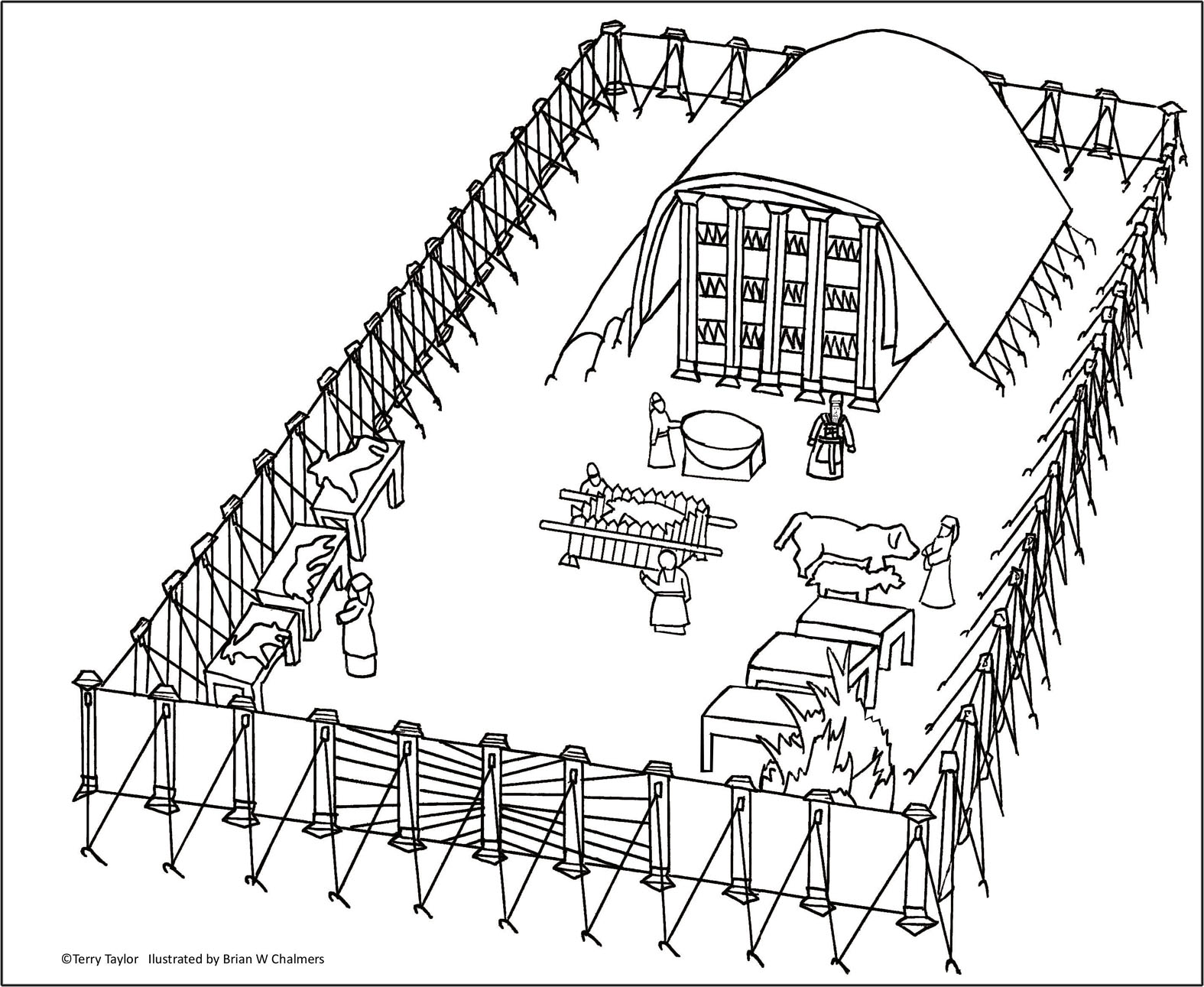 Tabernacle lesson for kids sunday school for Tabernacle coloring pages free