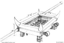 Original sketch of altar by Brent Kington showing the horns