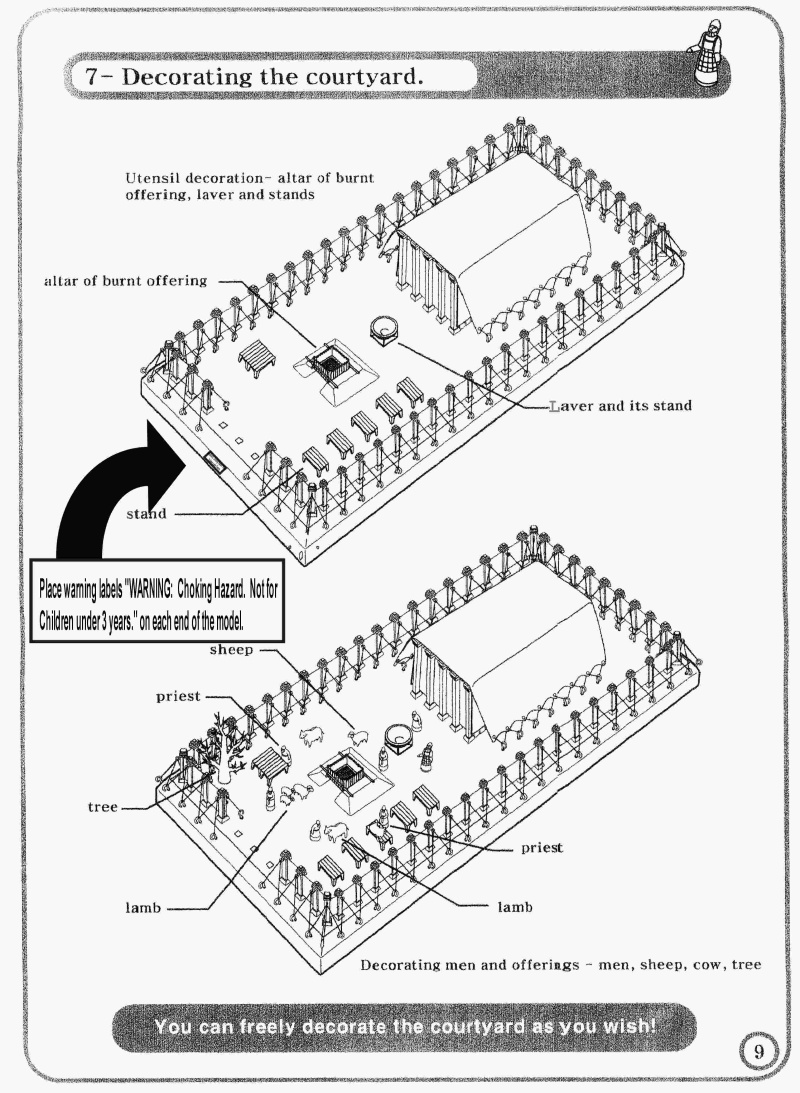 Instructions For Placing The Courtyard Furnishings In Tabernacle Kit