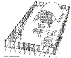 tabernacle coloring page